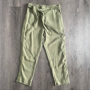 NWOT Cloth & Stone Wild Olive Green Belted Pants S